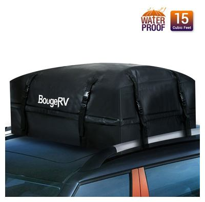 Bougerv rooftop cargo carrier bag waterproof car roof bag rooftop cargo luggage bag travel storage box for jeep car truck