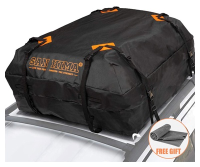 Rooftop cargo bag - (15 cubic feet) heavy-duty roof bag - 100% waterproof, excellent quality car top carrier bag fits all cars with rack - rooftop car bag