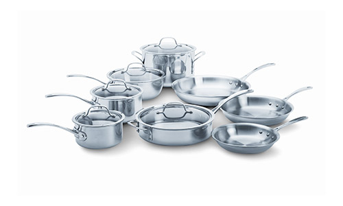 Calphalon Tri-Ply Stainless steel 13 piece Cookware Set.
