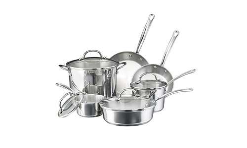 Farbeware Millenium Stainless steel 10-Piece Cookware Set.
