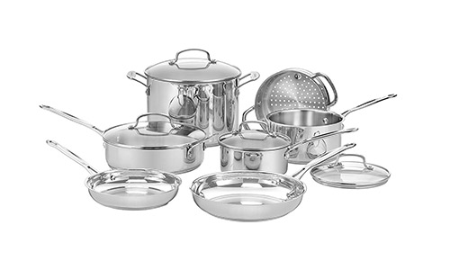 Cuisinart 77-11G Chef's Classic Stainless Steel Cookware Set.