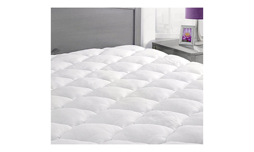 Bamboo Mattress Pad with Fitted Skirt - Extra Plush Cooling Topper - Hypoallergenic