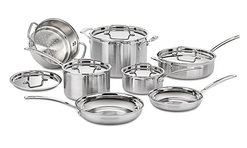 Cuisinart MCP-12N Multiclad Pro Stainless Steel Cookware Set.