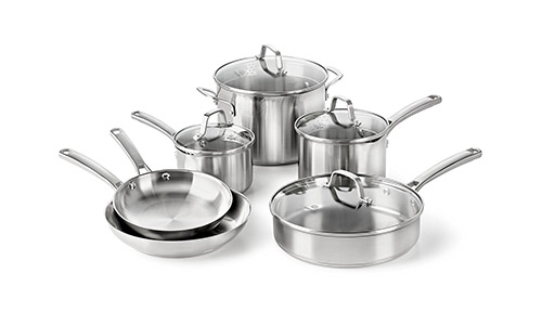 Calphalon Classic Stainless Steel Cookware Set.