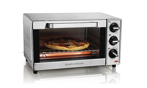 Stainless Steel 4 Slice Toaster Oven Broiler by Hamilton Beach