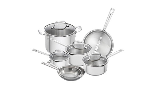 Emeril Lagasse 62950 12 pieces Stainless Steel Cookware Set.