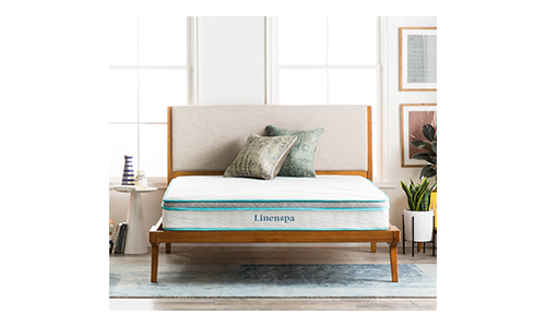 LinenSpa 8 inch memory Foam and Innerspring Hybrid Mattress.