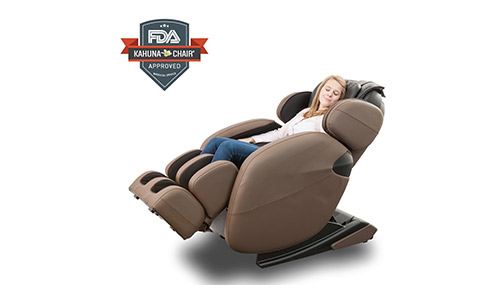 Space Saving Zero-Gravity Full-Body Kahuna Massage Chair.
