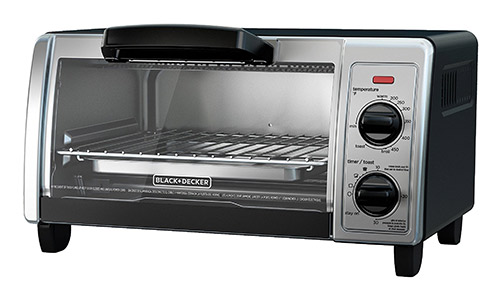 4-Slice Toaster Oven with Easy Controls Black+Decker