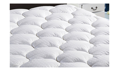 """King Overfilled Mattress Pad Cover 8-21""""Deep Pocket-Cooling Fitted Mattress Topper Snow Down Alternative Fill"""