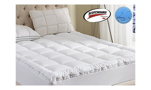 Witone Mattress Pad King Size 400TC Cotton Top 3M Water Resistant Hypoallergenic