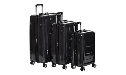 AmazonBasics Hardshell Spinner Luggage Set