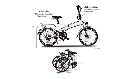 Foldable Electric A-bike urban City bicycle.