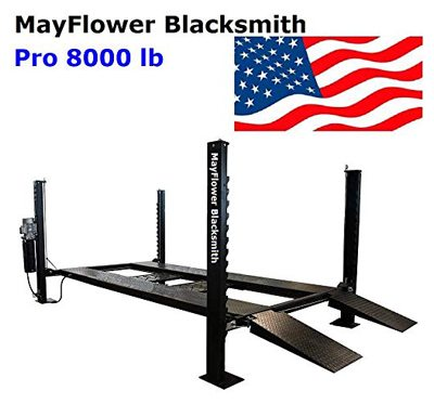 Mayflower blacksmith four-post lift car lift storage service 8000 lbs pro 8000
