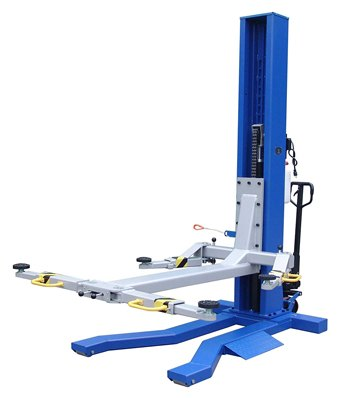 Ideal 6000 lbs capacity mobile single column lift