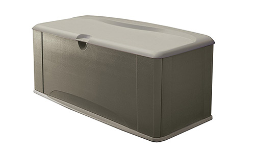 Rubbermaid Deck Box with Seat, Extra Large, 120 Gal., 16 cu. ft., Olive Steel (FG5E3900OLVSS)