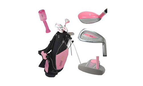 Golf Girl Junior Set w/Pink Stand Bag