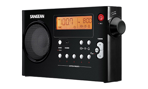 Sangean PR-D7 BK AM/FM Digital Rechargeable Portable Radio