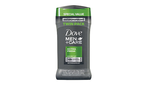 Dove Men+Care Antiperspirant Deodorant Stick, Extra Fresh, 2.7oz (Pack of 2)