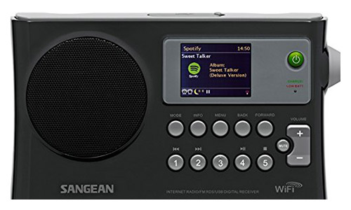 Sangean WFR-28 Internet Radio/ FM-BRDS/ USB/ Network Music Digital Player Digital Receiver with Color Display