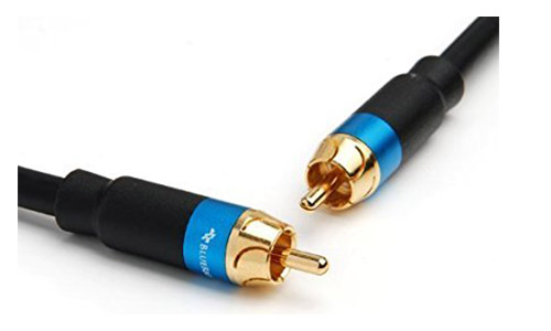 BlueRigger Dual Shielded Subwoofer Audio RCA to RCA Cable with Gold Plated