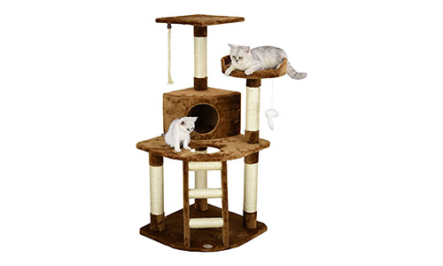 Go Pet Club Cat Tree, Brown