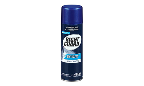 Right Guard Sport Anti-Perspirant Deodorant Spray Unscented 6oz (Pack of 6)