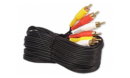 25Ft RCA M/Mx3 Audio/Video Cable Gold Plated - Audio Video RCA Cable