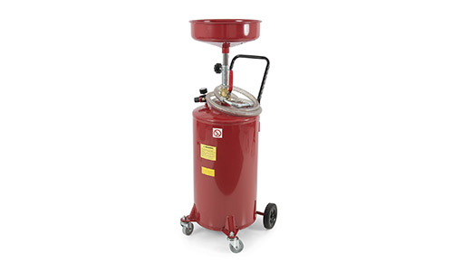 ARKSEN 20 Gallon Portable Waste Oil Drain Tank Air Operated, Red