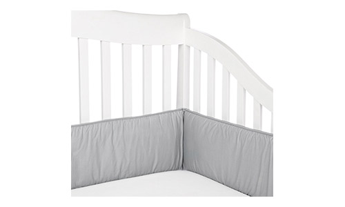 American Baby Company Cotton Percale Crib Bumper, Gray