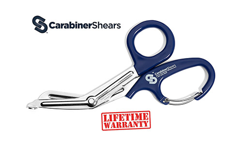 Carabiner-Shears Stainless Steel Bandage Shears