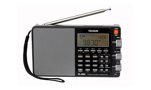 Tecsun PL880 Portable Digital PLL Dual Conversion AM/FM Longwave and Shortwave Radio