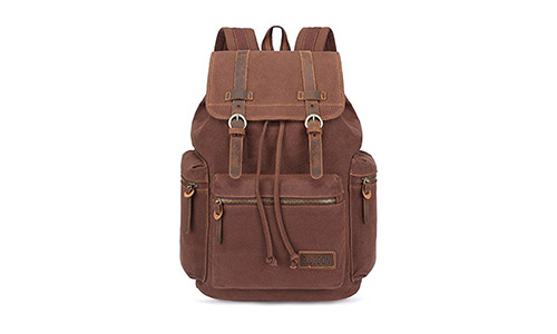 BLUBOON Canvas Vintage Backpack Leather