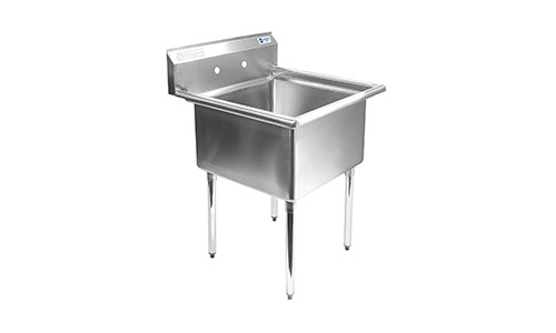 Gridmann 1 Compartment Stainless Steel Commercial kitchen Prep & Utility Sink