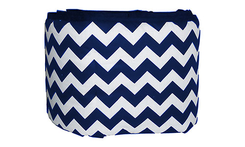 Baby Doll Bedding Chevron Crib Bumper, Navy