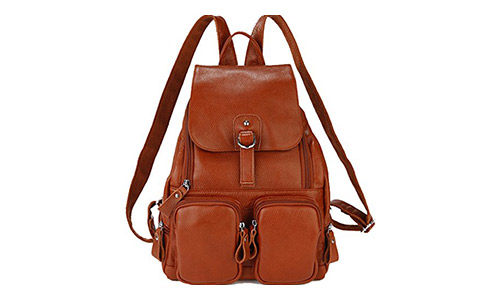 Coolcy Casual Women Real Genuine Leather Backpack