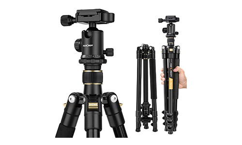 K&F Concept 62'' DSLR Tripod, Lightweight and Compact Aluminum Camera Tripod with 360 Panorama Ball Head