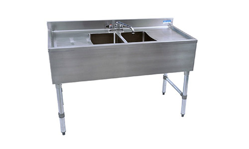 Slim-Line Stainless Steel Underbar Sinks