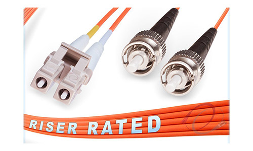 OM2 LC ST Duplex Fiber Patch Cable 50/125 Multimode - 80 Meter
