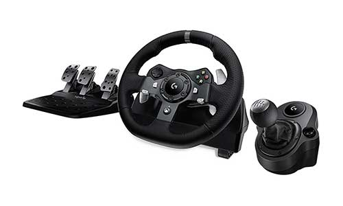 Logitech G920 Driving Force Racing Wheel + Logitech G Driving Force Shifter Bundle