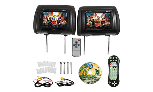 Rockville 7-inch Car Headrest DVD Player