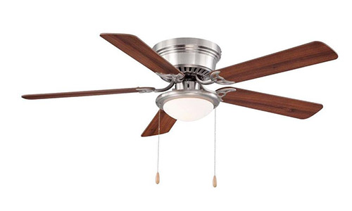 Hampton Bay Hugger Brushed Nickel Ceiling Fan