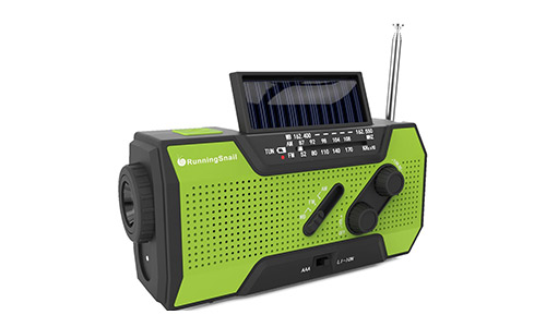 RunningSnail Solar Crank NOAA Weather Radio For Emergency with AM/FM