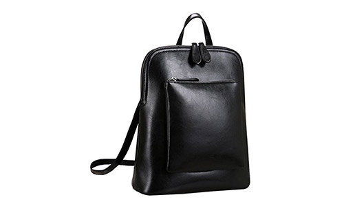 Heshe Women's Vintage Leather Backpack