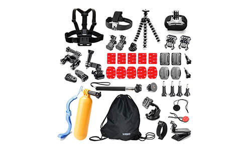 Somate Action Camera Accessories Kit Bundle