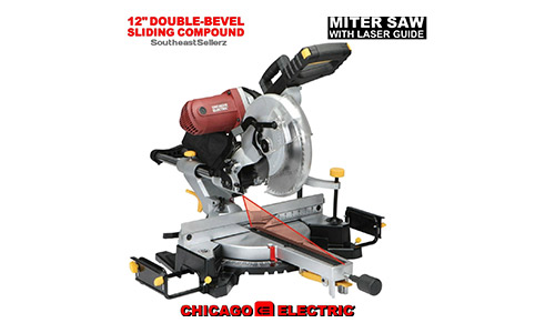 Chicago Electric Power Tools 12 inch Sliding Compound Miter Saw