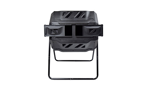Miracle-Gro Dual Chamber Compost Tumbler.