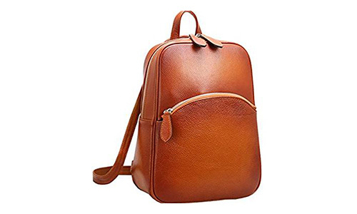 Heshe Women's Casual Leather Backpack