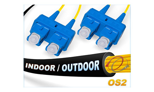 OS2 SC SC In/Outdoor Duplex Fiber Patch Cable 9/125 Singlemode - 150 Meter
