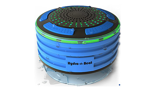 Hydro-Beat Shower Radios IPX7 Fully Waterproof Bluetooth Speaker with built-in Radio